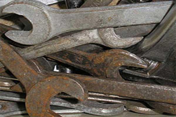 جلوگیری از زنگ زدگی ابزارآلات دستی