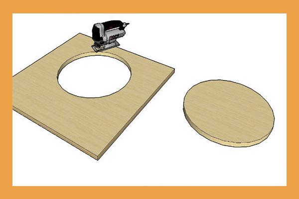 ایجاد برش دایره ای شکل در داخل چوب