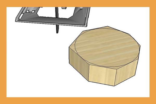ایجاد برش دایره ای شکل چوب